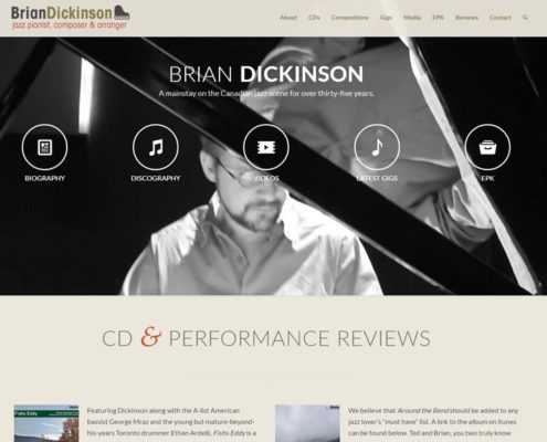 Jazz Pianist Brian Dickinson