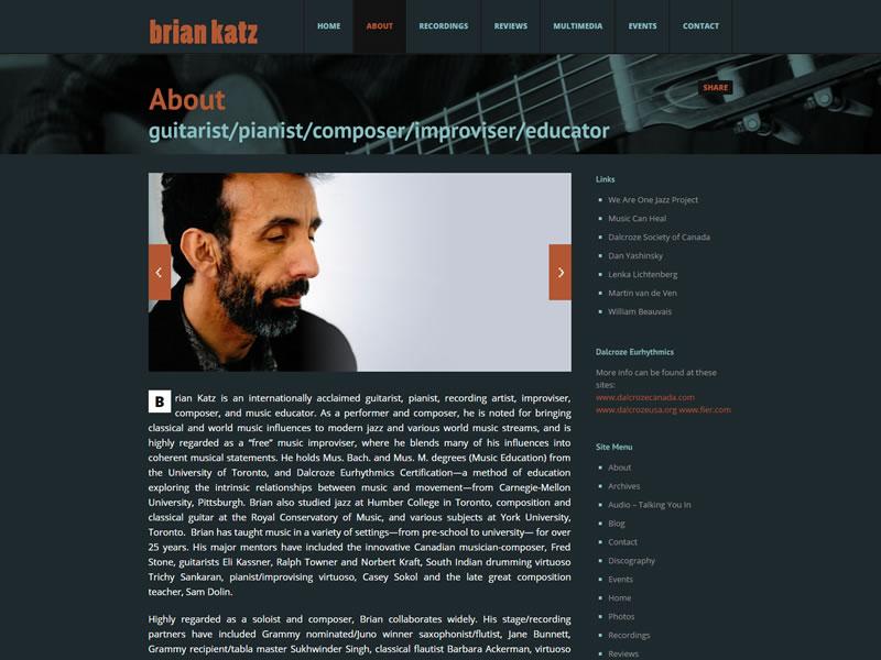 Guitarist Brian Katz
