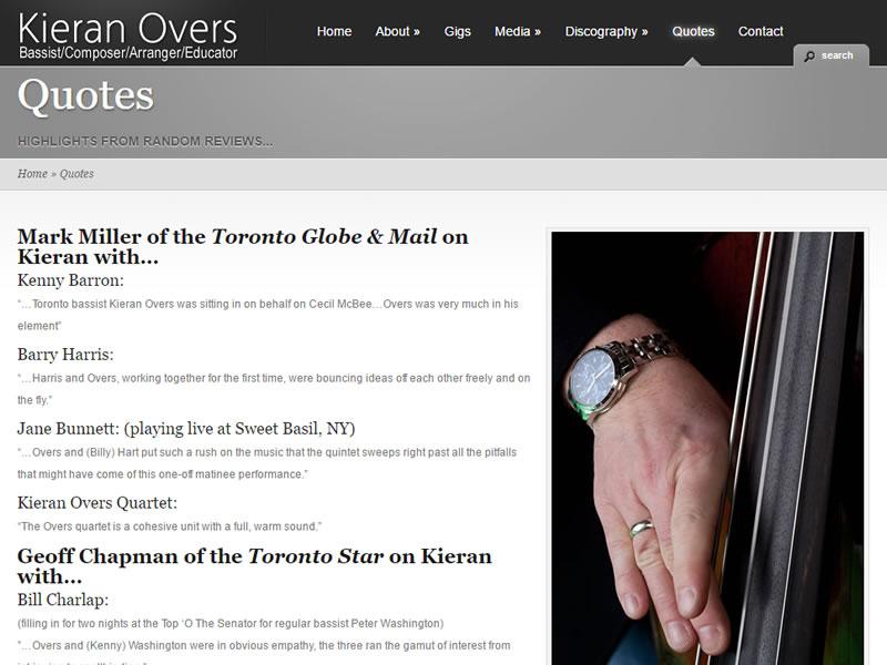 Kieran Overs Jazz Bassist